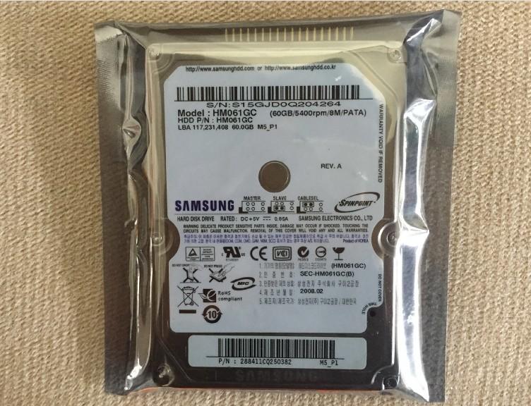 皇冠全新库存未拆封2.5寸IDE并口 三星60G笔记本电脑硬盘PATA接口