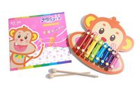 Разноцветный дерево детские Головоломка забавный ксилофон с творческим учебником E-Y061