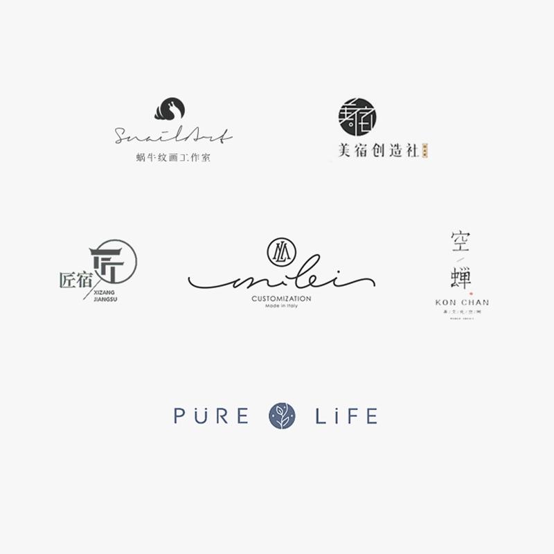 logo设计原创商标注册品牌企业店标卡通字体图标标志名片满意为止