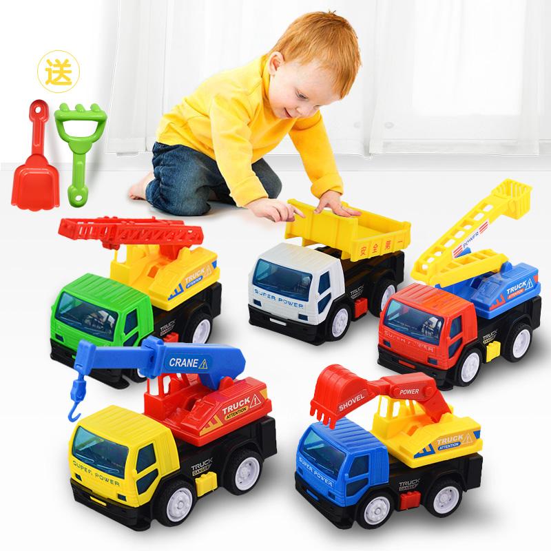儿童玩具车套装各类车男孩回力车惯性车小汽车挖掘机挖土机工程车