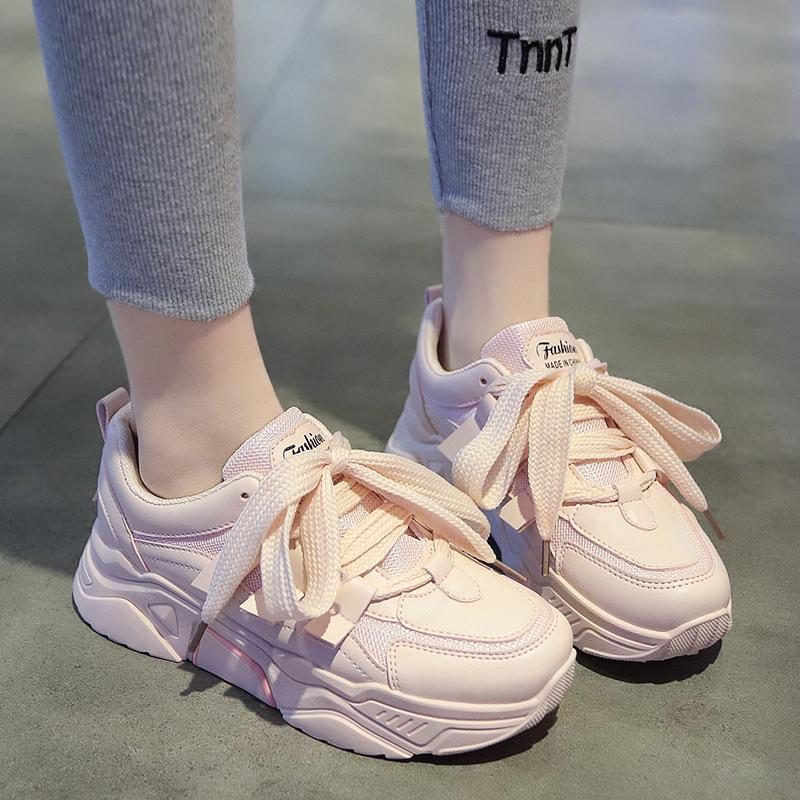 2020年春天新款女鞋子潮鞋春款网红百搭春季爆款潮流行老爹小白鞋