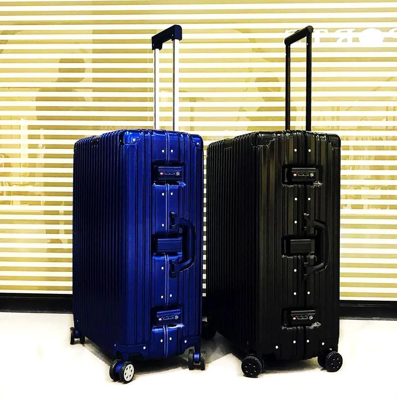 Retro trolley suitcase mens universal wheel code leather case Korean student female 20 / 24 / 28 inch