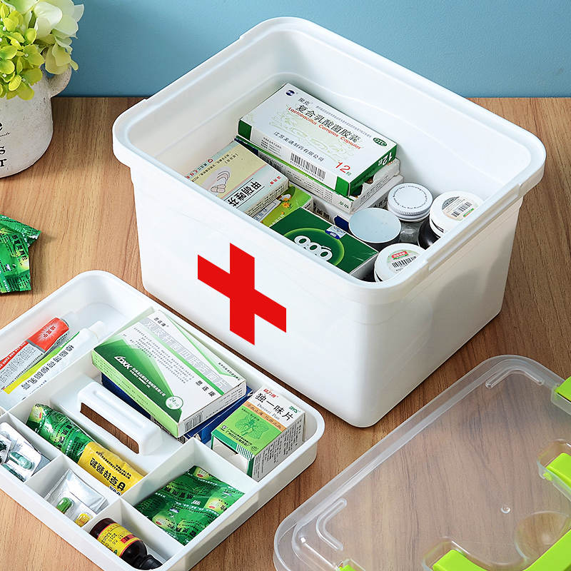 First aid kit for medical treatment, including large medical first aid kit, spare full set of emergency household kit, first aid kit, supplies and tools