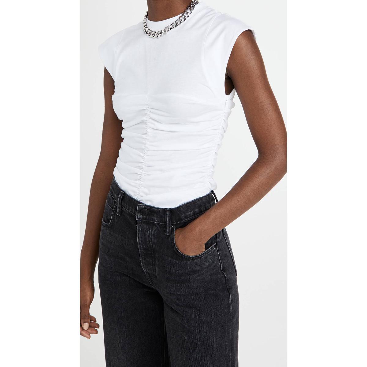 代购Ganni 基本款 T 恤女2021新款奢侈品外套开衫百搭针织开衫女