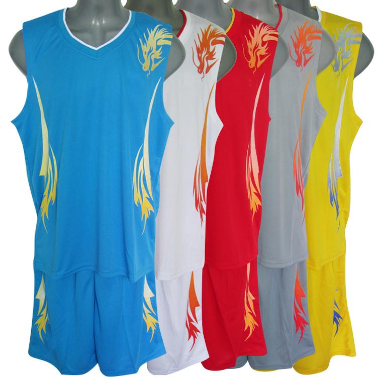男女篮球服套装学生球衣龙纹儿童篮球服中学生篮球服定制印字1038