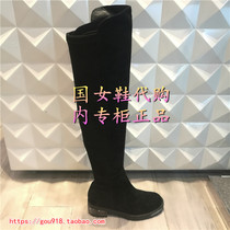 妙丽2017冬款过膝特长靴女鞋女靴子专柜正品LZPLXF81DLXF81DC7