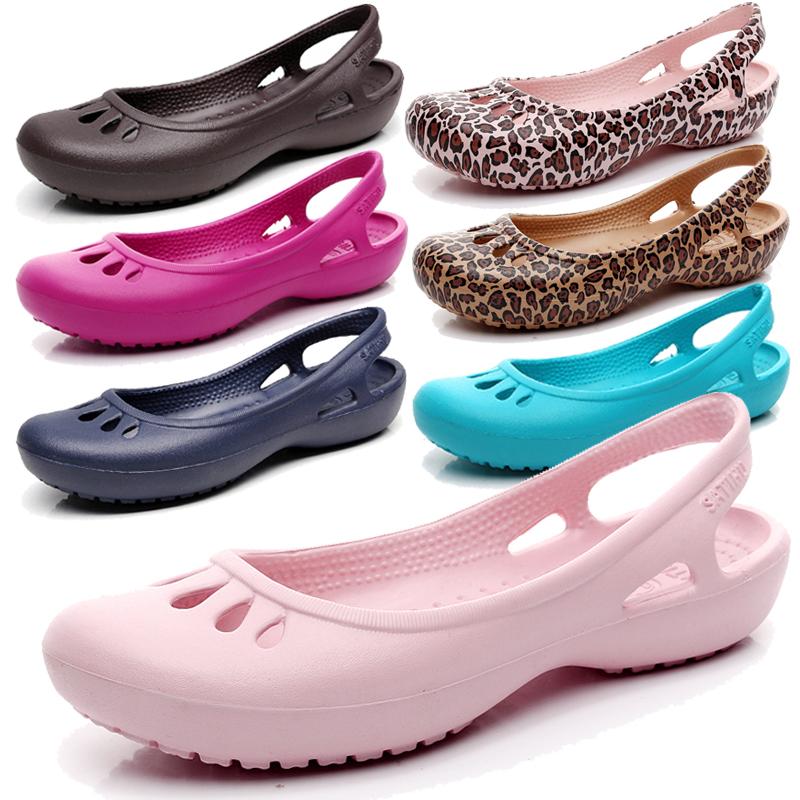夏季平底护士鞋轻便防滑包头洞洞鞋不包邮