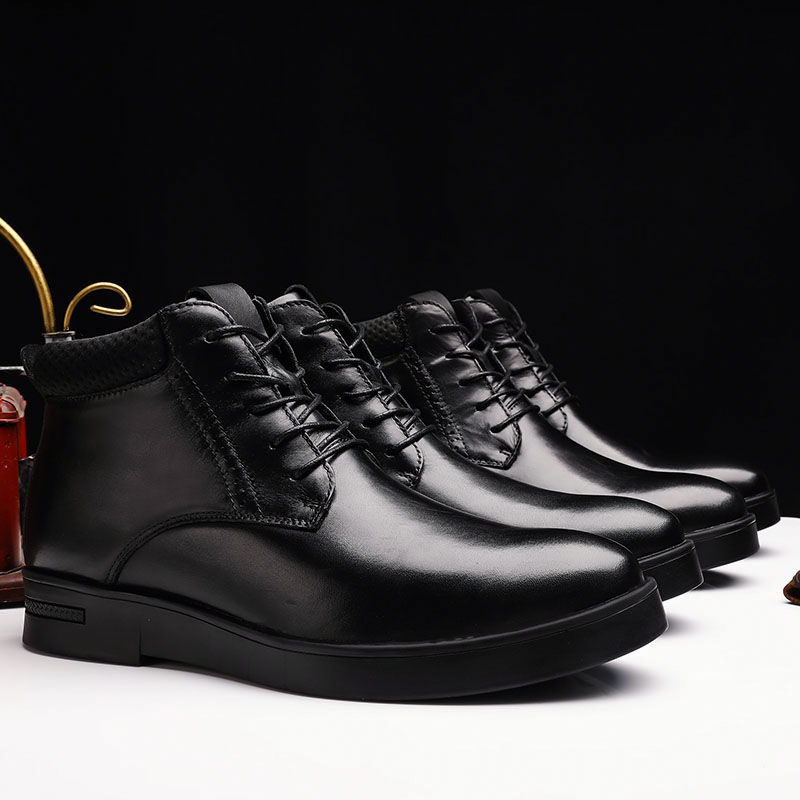 47 boots male 46 short boots high top thermal cotton shoes 45 business dress shoes extra large size Martin boots