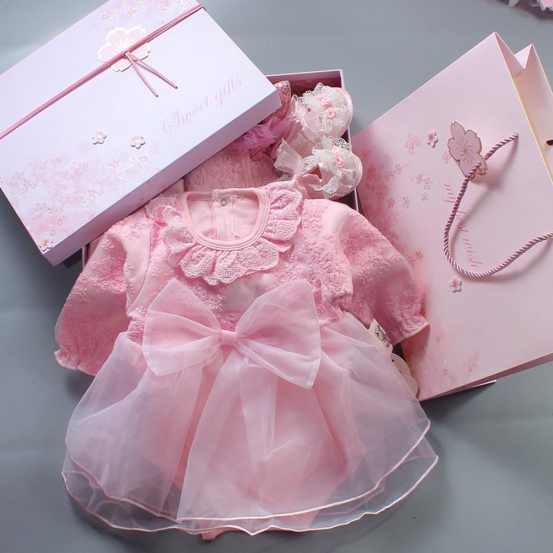 女婴春装套装0-1岁纯棉婴儿裙子限9000张券