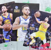 2019库里海报墙贴纸卧室篮球大海报NBA勇士队巨幅宿舍库里一套8张