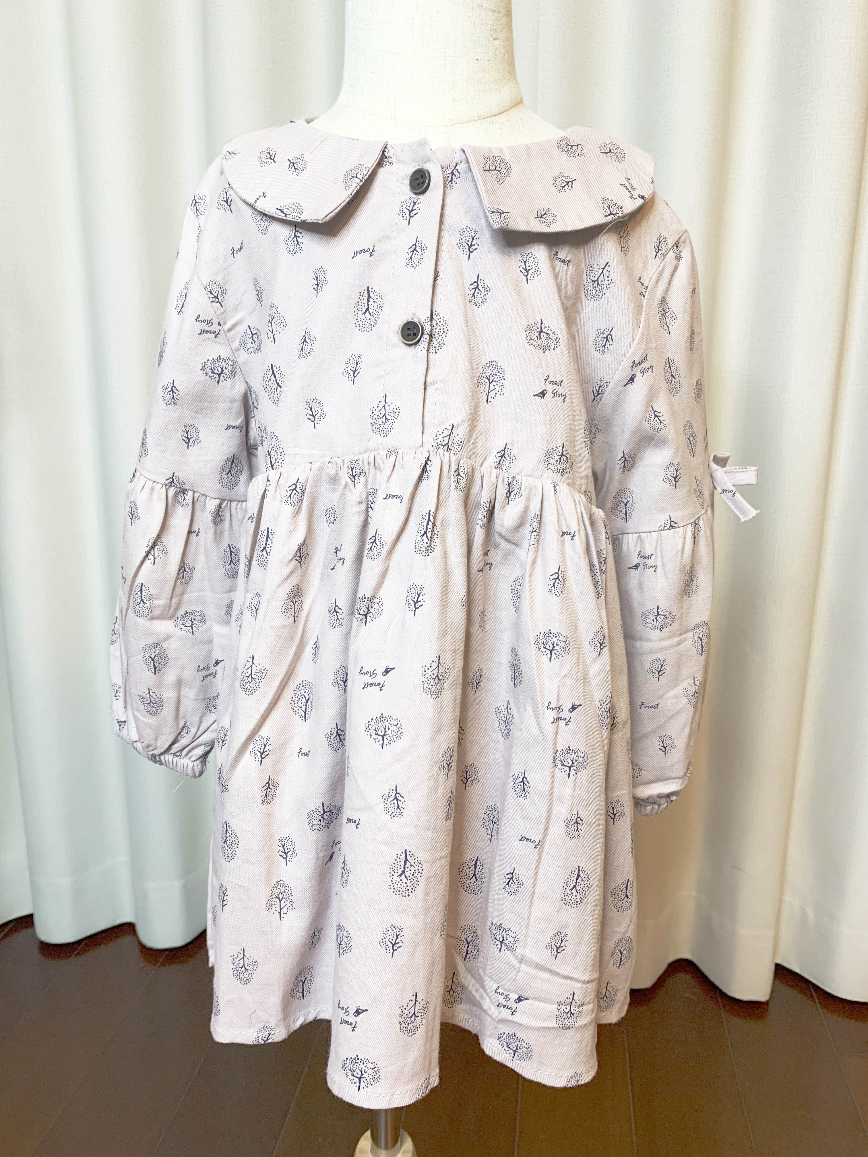 韩国精品童装2020年春款新款纯棉连衣裙粉色蝴蝶结