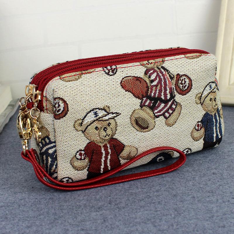 手机包女士帆布艺民族风装手机小包包秋冬手拿包零钱包大屏手挽包