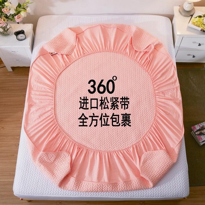 �棉床笠�渭��A棉加厚席�羲挤阑�保�o套薄棕�|床�|套1.8m全棉床罩
