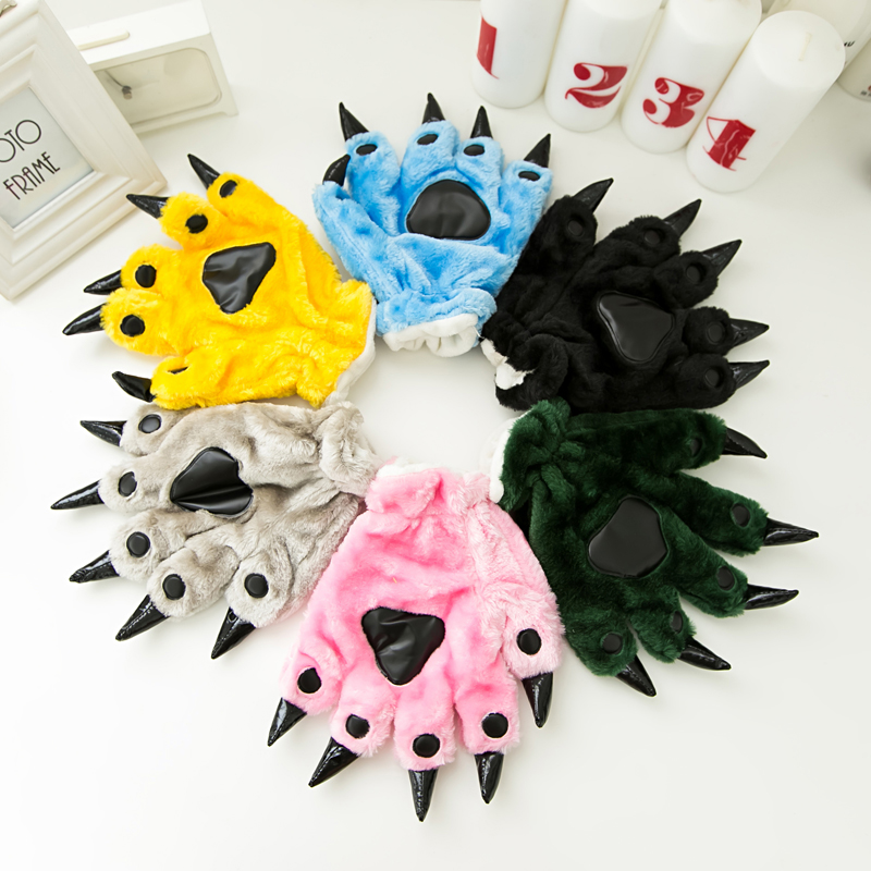 Thickened cartoon claw gloves dinosaur Pikachu costume matching show gloves men and women with cute