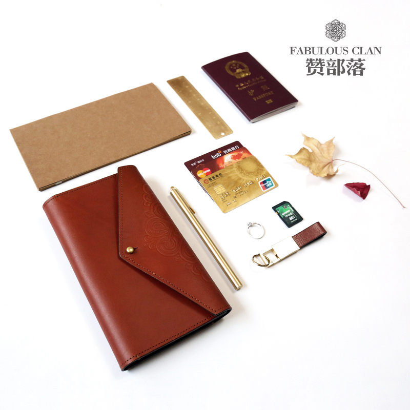 Zan tribe new wallet womens long leather large capacity multi-functional travel mens national pure leather bag