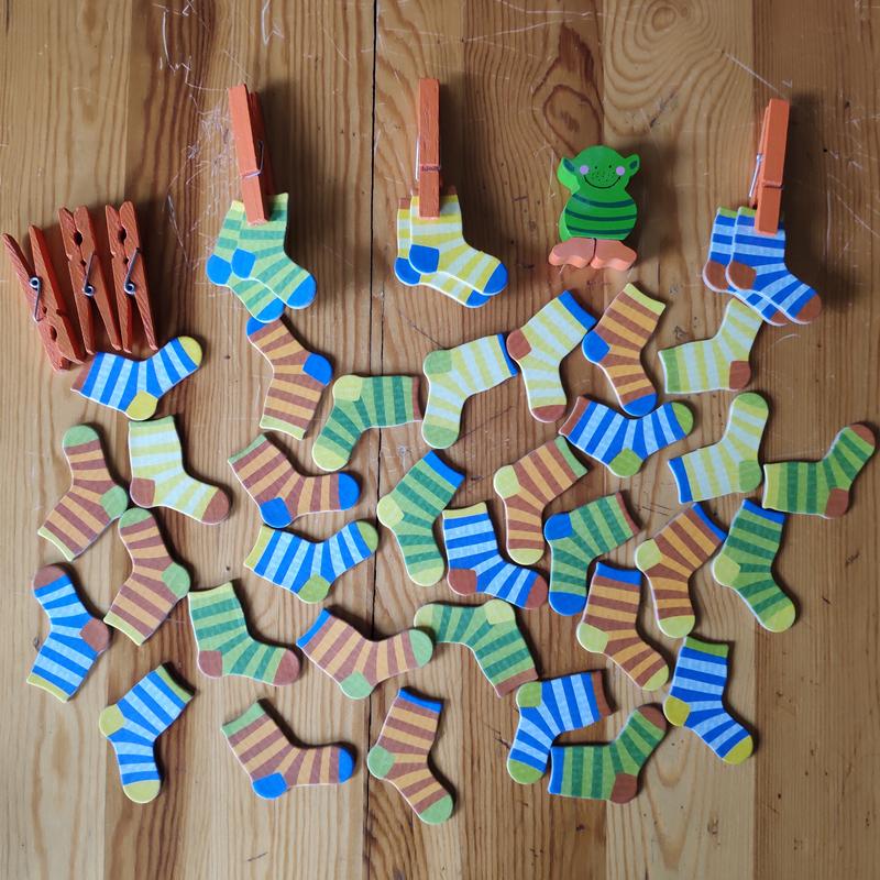 イスラエル思考ゲーム/幼児ペア分類集中力/遊び心のある親子のおもちゃの靴下妖精