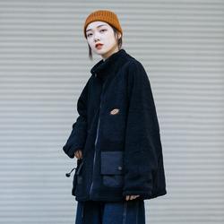 冬季日系宽松两面穿羊羔毛中性bf风工装棉袄 男女ins棉衣加厚外套