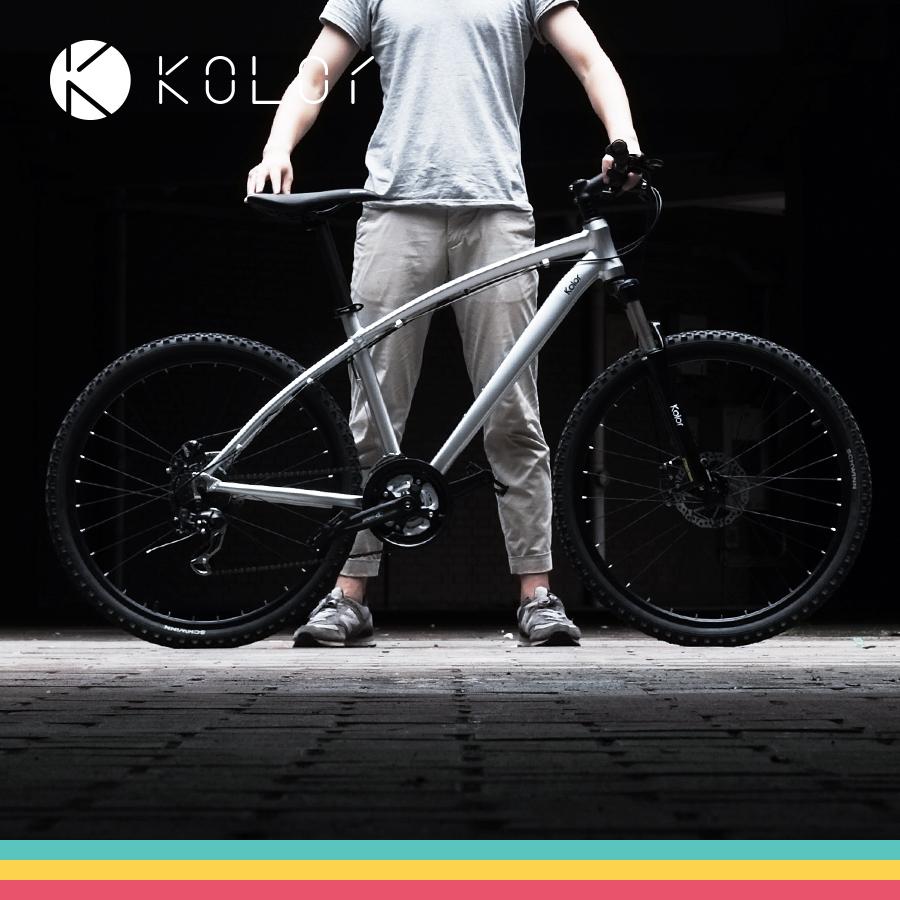 (用1元券)包邮kolor山地自行车铝合金山地车26寸21速24速双碟刹男女学生款