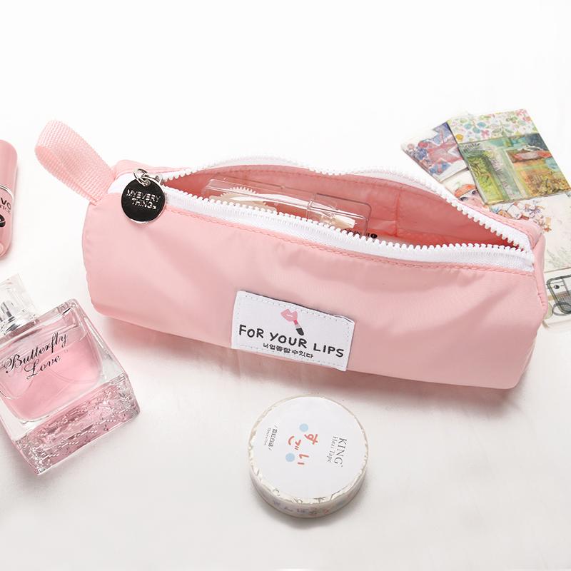 三明治笔袋女韩国大学生高中初中生纯色简约大容量小清新文具袋