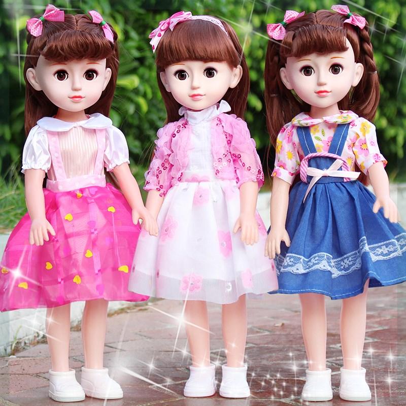 女孩芭比仿真洋娃娃大礼盒精致儿童布玩具套装换装长发美发公主小