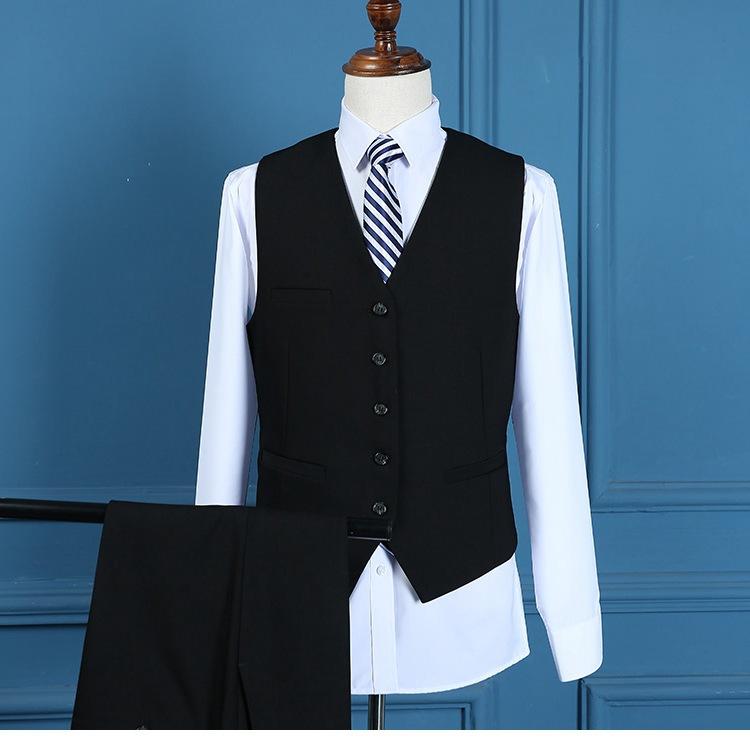 西服品味酷商务V领单排扣男女同款马甲夹克男背心特大码高端西服