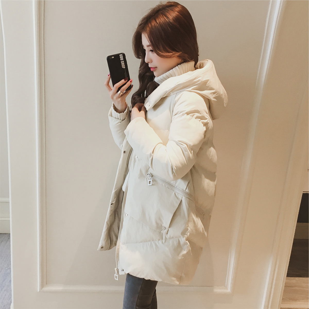 棉衣女2018新款棉袄中长款面包服ins加厚羽绒棉衣服女士冬季外套