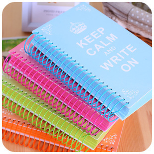 Korean creative stationery candy colored spiral coil thick crown blank page notebook diary notes graffiti this