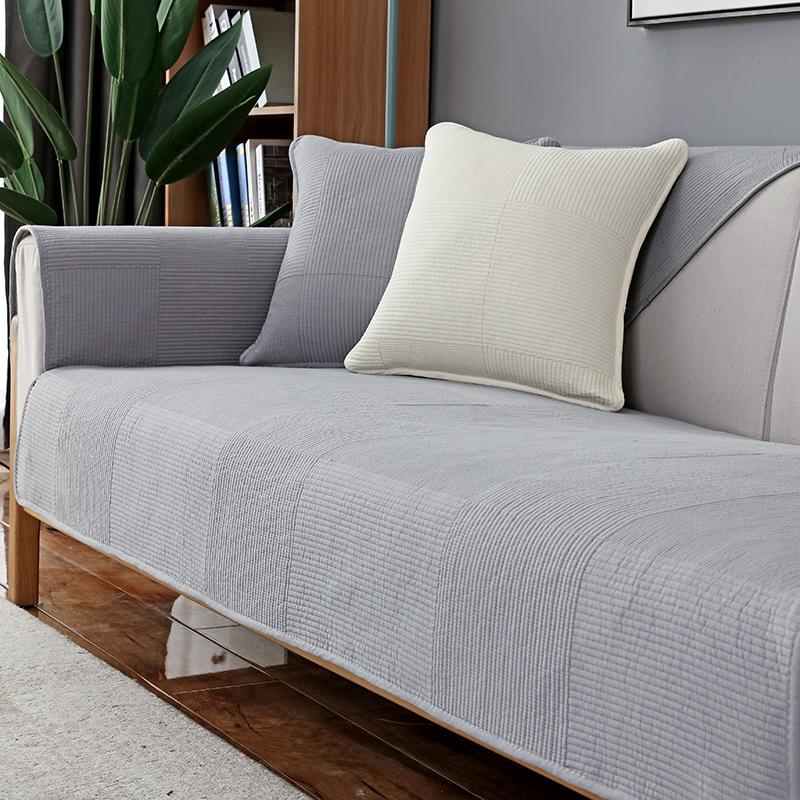 北欧简约沙发垫四季防滑纯棉坐垫子现代夏季通用皮沙发套罩巾定做