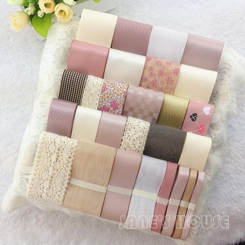 Электронной почты сладких Розовая лента набор ручной DIY волос набор оптовые ювелирные изделия Аксессуары любящий клип бабочки