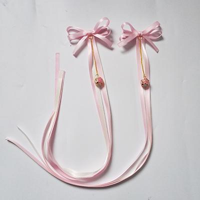 Parcel post classic Hanfu hair accessories tassel antique girl daily ancient clothes edge clip hair accessories fresh bell ribbon pair clip