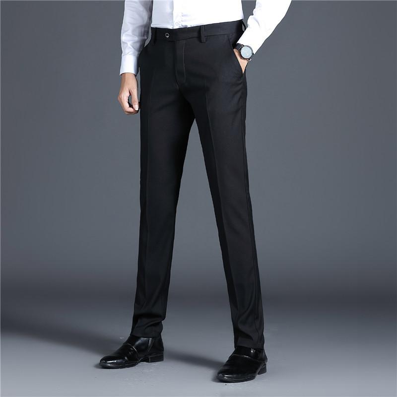男式2020秋季新款商务正装男士西裤直筒日常西装长裤韩版男装包邮