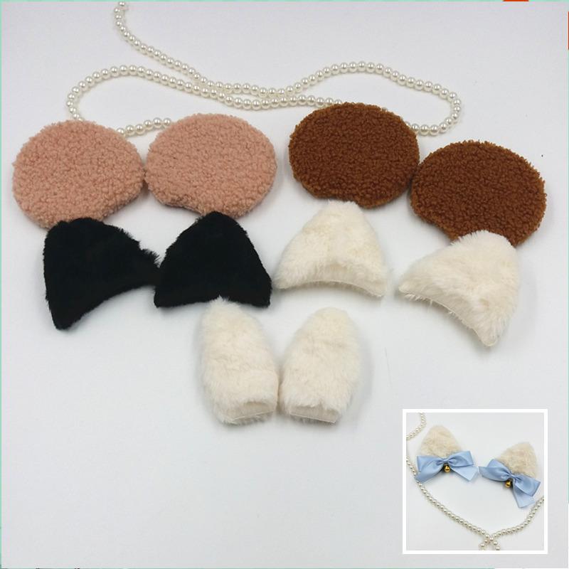 ロリータの毛織物クマ耳猫耳ウサギ耳アクセサリー髪飾りdiy手作り素材