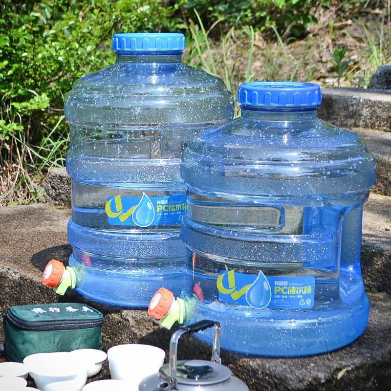车载储水PC户外桶带龙头野炊圆形纯净台茶几自驾游饮家用营矿泉桶