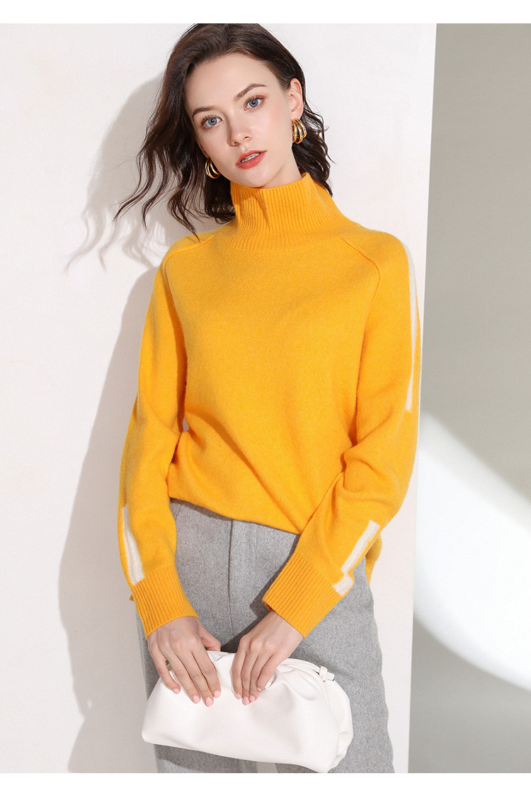 New winter high neck sweater with wool in 2019