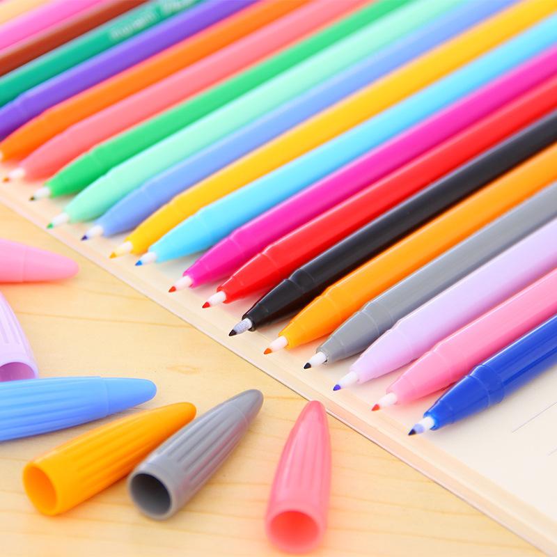 阿凡大叔慕娜美中性笔彩色monami3000韩国学生用纤维手账笔勾线笔