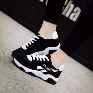 2016春季韩版运动鞋女百搭休闲鞋学生板鞋潮平底跑步鞋阿甘女鞋子