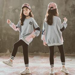 女童网红套装秋装中大童洋气2020年冬季新款休闲儿童运动卫衣冬装