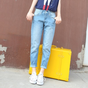 2015 winter new female jeans pants Korean tide was thin pantyhose big yards collapse pants harem pants pants couple