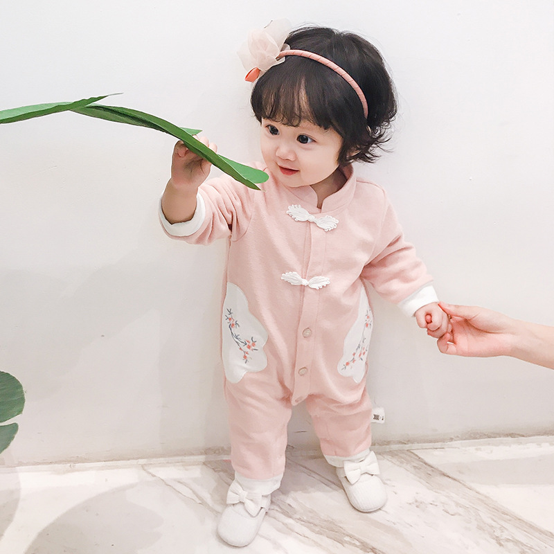 Childrens climbing clothes baby children 0-1-3 years old Chinese style Jumpsuit