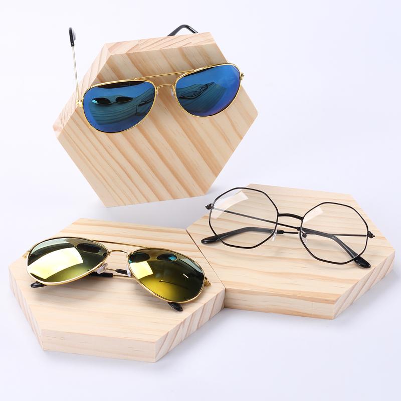 创意实木眼镜展示架墨镜太阳镜眼镜架眼镜店陈列装饰摆放道具