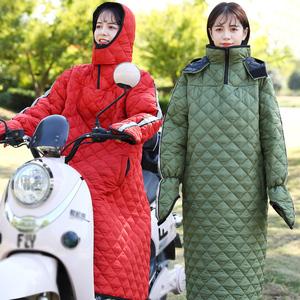 骑车电动摩托车挡风被冬季加厚保暖防寒电瓶电车挡风罩防水防风衣