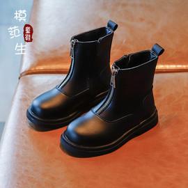 儿童复古马丁短靴2020新款韩版英伦风短筒靴子男女童百搭时尚皮靴