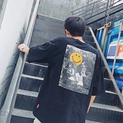 港风2018夏装 日系潮牌男T恤 A092-1-T803-P30大码