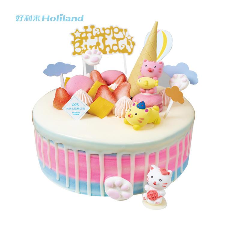 好利来生日蛋糕同城配送哈尔滨市(欢天喜地)