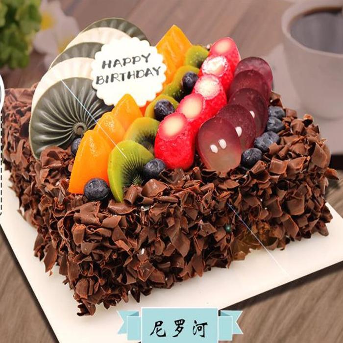 好利来&麦子花果生日蛋糕同城配送张家口市宣化区(尼罗河)