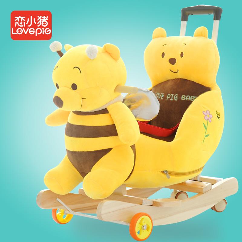 恋小猪儿童早教音乐木马儿童摇马宝宝摇椅婴儿摇摇车儿童玩具礼物