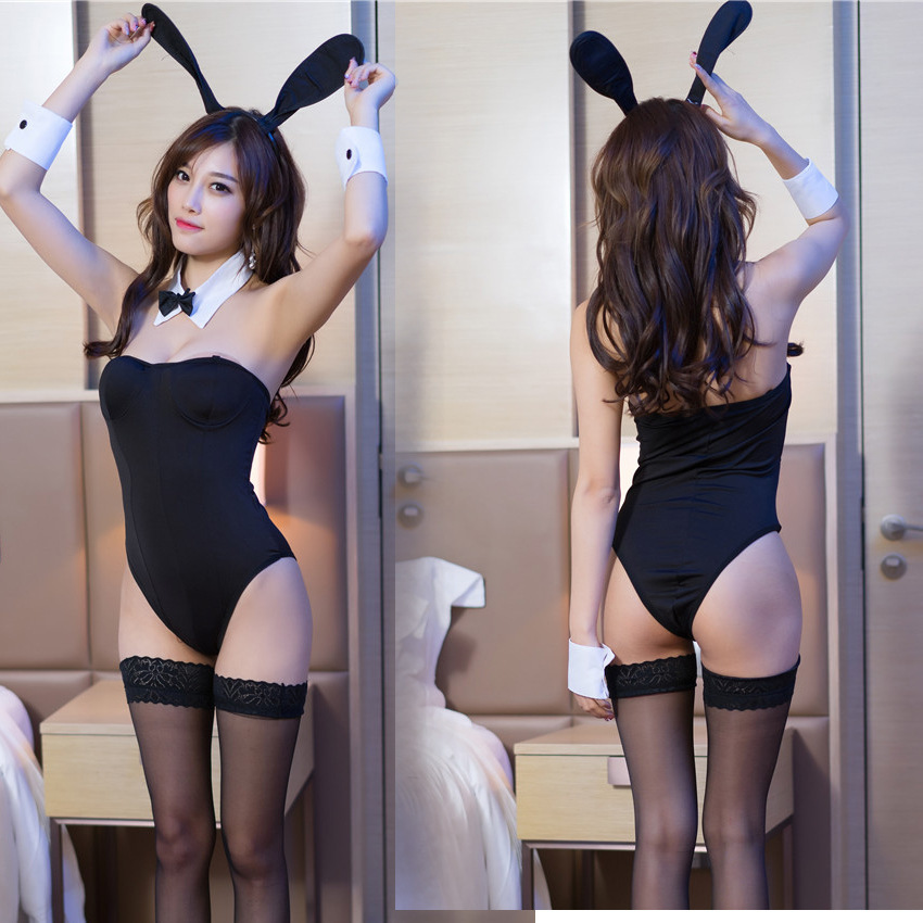 Women's sexy lingerie uniform tempting rabbit girl performance costume role play dress a hair substitute