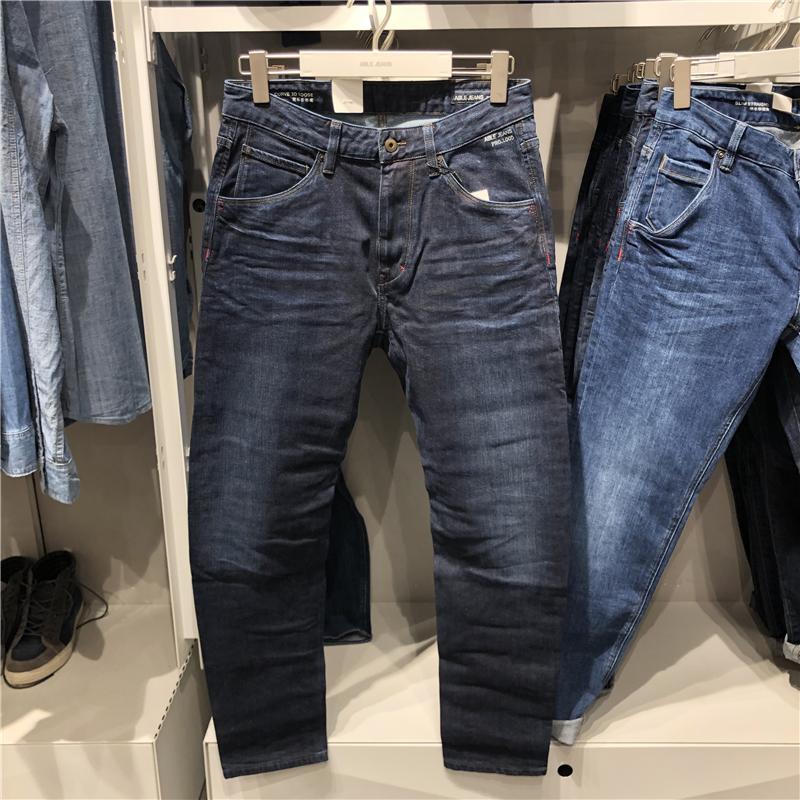 专柜正品秋冬深色ABLE JEANS男牛仔裤CURVE 3D男士弯刀弧形潮男裤
