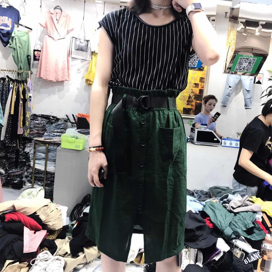 【直播限时特价105元】冰丝上衣+麻料裙2件套  tsm-8239