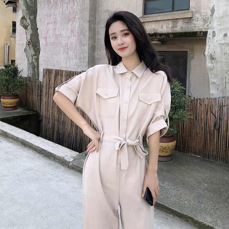 [share home] short sleeve Jumpsuit womens fashion one piece clothes